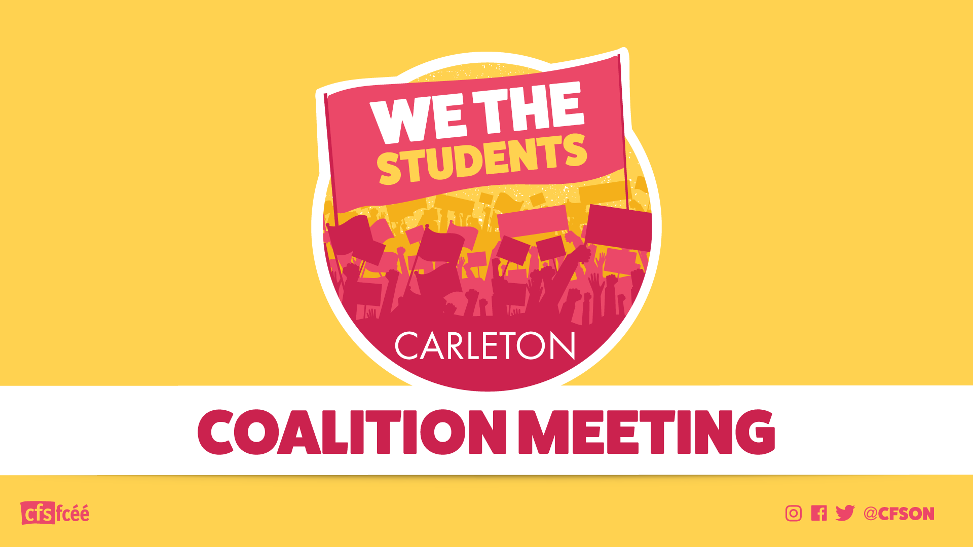 Carleton University Campus Coalition Meeting: March 7