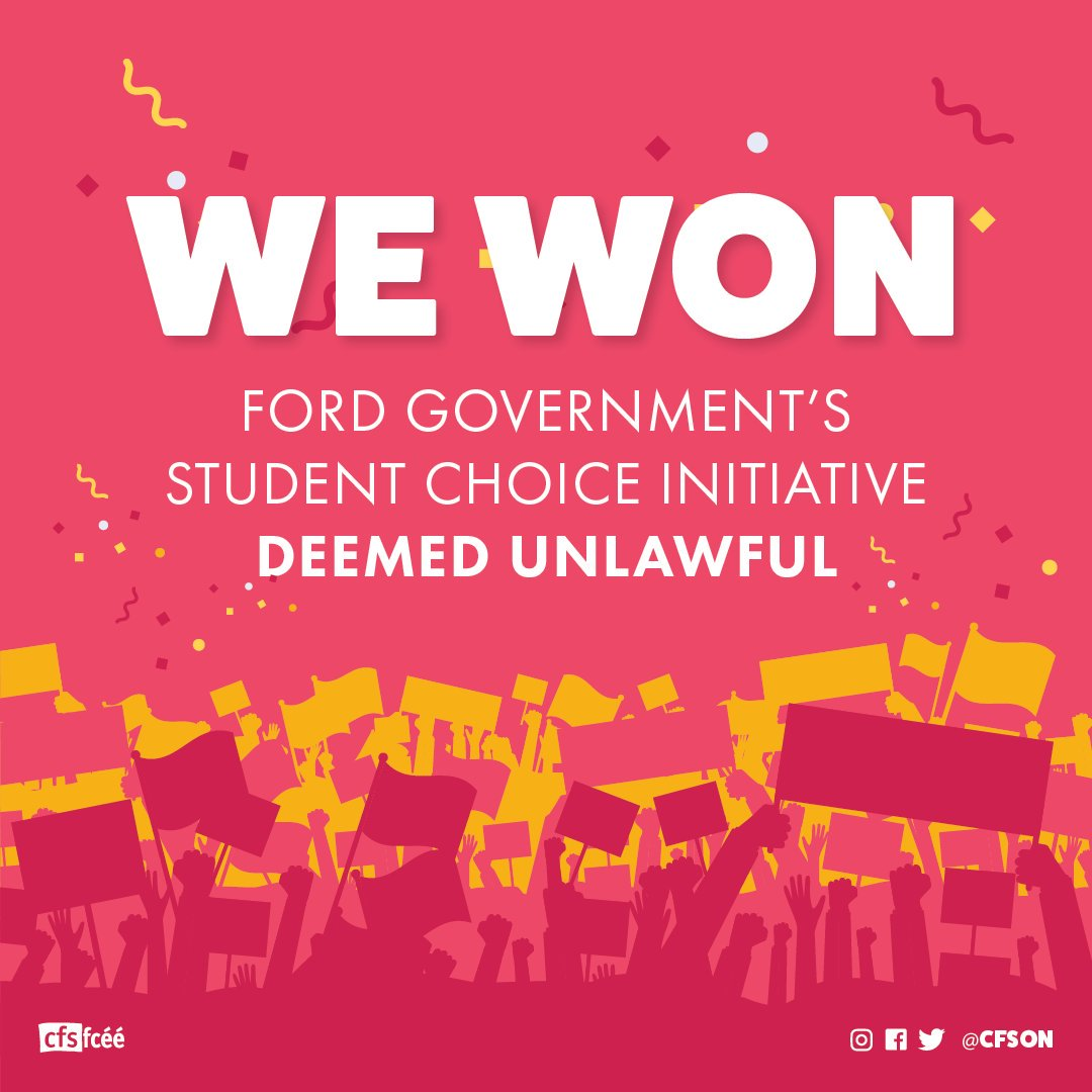 Court Strikes Down Ford's Student Choice Initiative