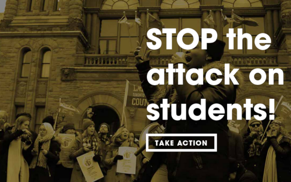 Canadian Federation of Students and York Federation of Students file legal challenge against Ontario Government's Student Choice Initiative