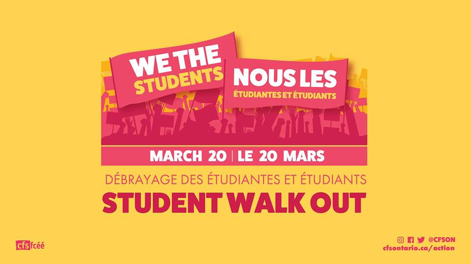 Student Walkout at Noon on March 20